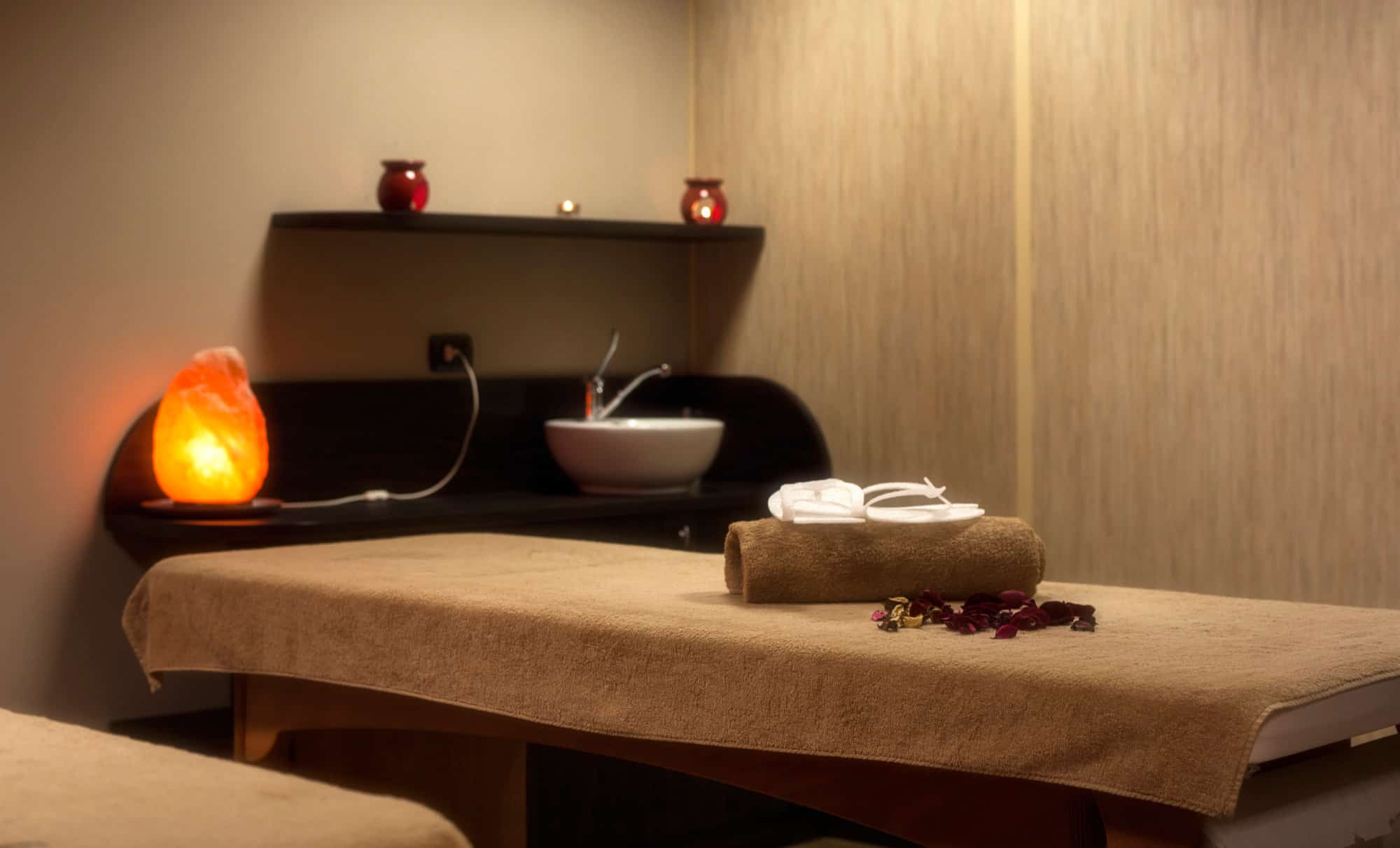 lettino per pacchetto massaggi