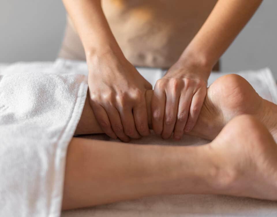 massaggio linfatico gambe